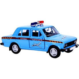 Lada 2106 fém autómodell 1:36 - világoskék rendőrautó