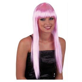 Hosszú haj paróka - rózsaszín, univerzális méret