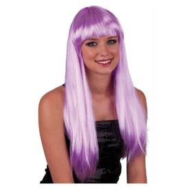 Hosszú haj paróka - lila, univerzális méret