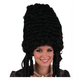 Pompadour paróka - fekete, univerzális méret