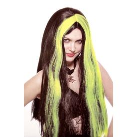 Boszorkány paróka - fekete-zöld, univerzális méret