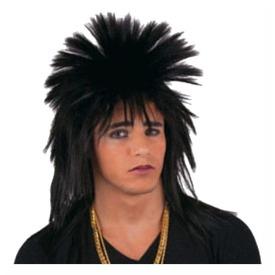 Punk paróka - fekete, univerzális méret