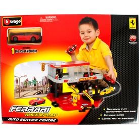 Bburago Ferrari autószervíz kisautóval 1:43