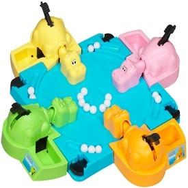 Hungry Hippos Gyolyófaló vízilovak társasjáték