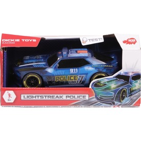 Dickie Lightstreak Police rendőrautó - 19 cm