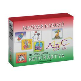 Magyar nyelvű betűkártya készségfejlesztő