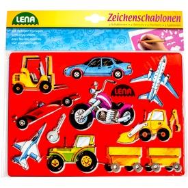 Autók és emberek rajzolósablon 2 darabos készlet