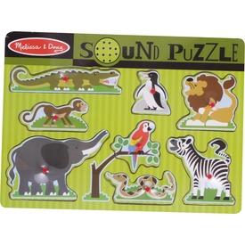 Állatkert 8 darabos puzzle hanggal