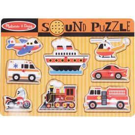 Járművek 8 darabos puzzle hanggal