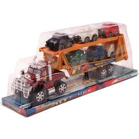 Autószállító kamion kisautókkal - 32 cm, többféle