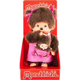 Monchhichi Anya gyermekével pink 20cm
