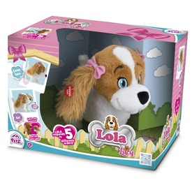 Lola az interaktív kutya plüssfigura