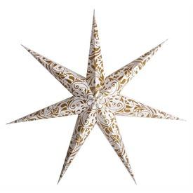 Lampion Csillag Arany mintás