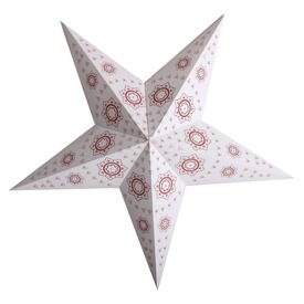 Lampion Csillag Piros mintás