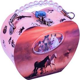 Szív alakú persely - lovas