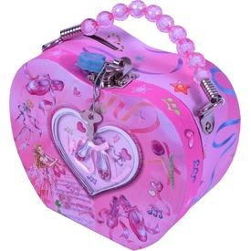 Szív alakú persely - balerinás