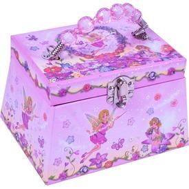 Tündéres ékszertartó doboz - rózsaszín