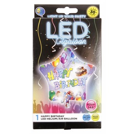 Happy Birthday LED lufi - 62 cm