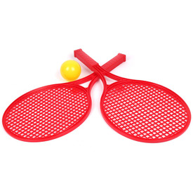 Műanyag teniszütő labdával
