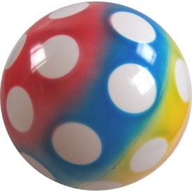 Pöttyös lakkfényű labda - 22 cm, többféle
