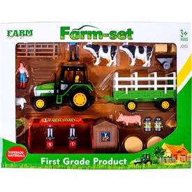 Mezőgazdasági készlet traktorral és figurákkal