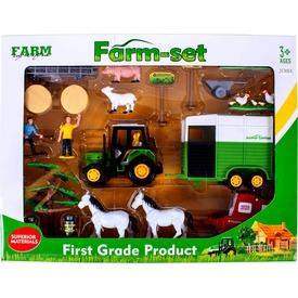 Mezőgazdasági készlet traktorral, figurákkal és utánfutókkal Itt egy ajánlat található, a bővebben gombra kattintva, további információkat talál a termékről.