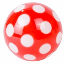 Pöttyös lakkfényű labda - 14 cm, többféle