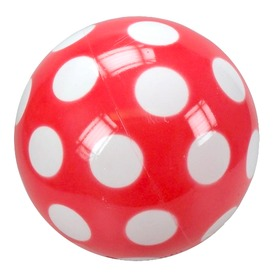 Pöttyös lakkfényű labda - 18 cm, többféle