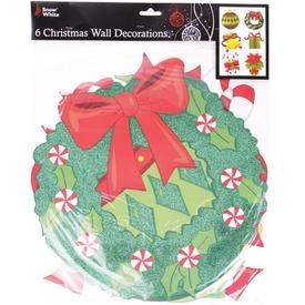 Karácsonyi dekoráció 6 db /csomag