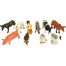 Műanyag háziállatok 10 darabos készlet tasakban