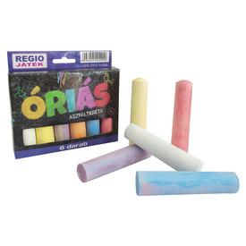 Óriás aszfaltkréta 6 darabos készlet - vegyes színek Itt egy ajánlat található, a bővebben gombra kattintva, további információkat talál a termékről.