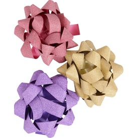 Csillogó ajándékkísérő csillag - 10 cm, többféle
