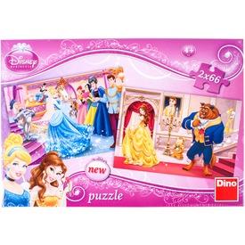 Disney hercegnők 2 x 66 darabos puzzle