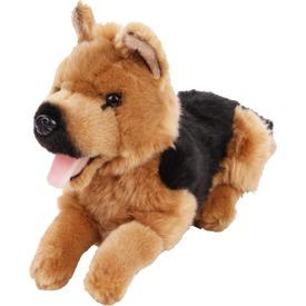 Német juhász kutya fekvő plüssfigura - 25 cm