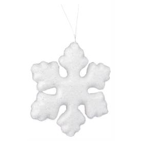 Hópihe dísz - fehér, 15 cm
