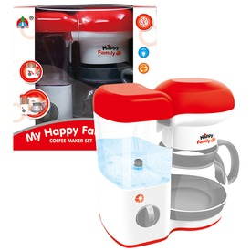 Konyhai kávéfőző gép - piros-fehér