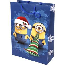 Minion karácsony díszzacskó - 24 x 32 cm, többféle