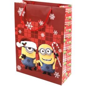 Minion karácsony díszzacskó - 28 x 38 cm, többféle