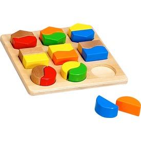 Színes fa formaválogató játék