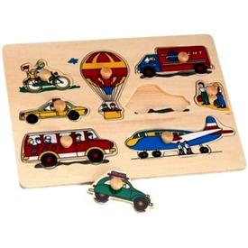 Járművek 9 darabos fa puzzle