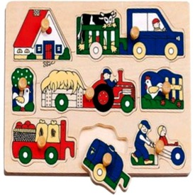 Farm járművek 8 darabos puzzle