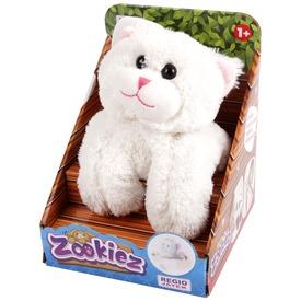 Zookiez cica plüssfigura - fehér, 30 cm