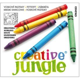 Creative Jungle zsírkréta 12 darabos készlet