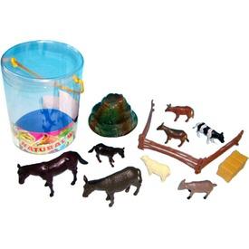 Műanyag háziállat 10 darabos készlet - 10-15 cm