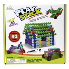 Play Stick rudak 80 darabos építőjáték