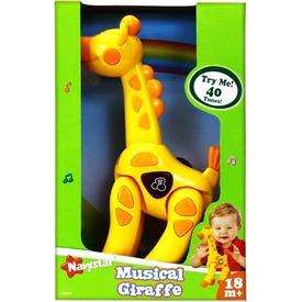 Zenélő zsiráf bébijáték
