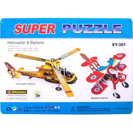 Nagy 3D puzzle - Helikopter és kétfedeles repülő Itt egy ajánlat található, a bővebben gombra kattintva, további információkat talál a termékről.