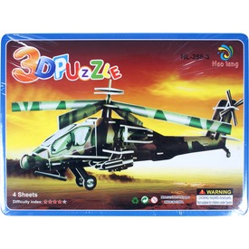 Apache AH-64 helikopter 3D puzzle