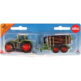 SIKU Claas traktor rönkszállító utánfutóval 1:87 - 1645
