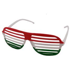 Magyar zászló party szemüveg